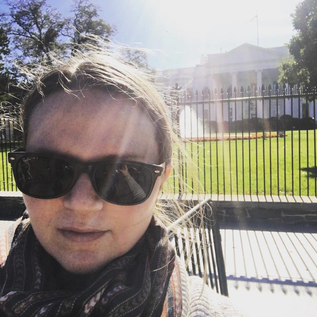Pretty surreal to be standing in front of the whitehousehellip