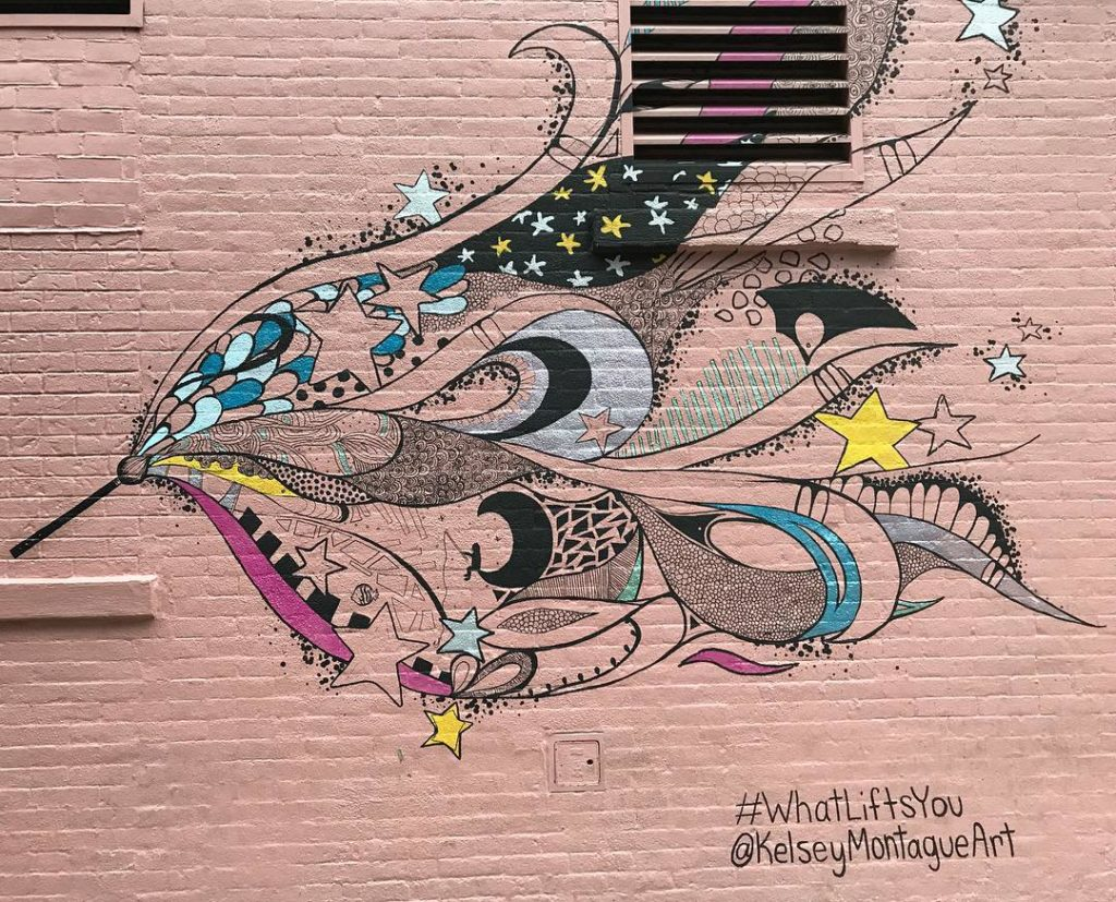 I feel lifted up kelseymontagueart streetart mural wallart soho nychellip